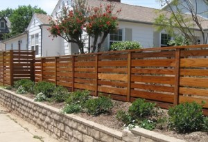 Ogrodzenie drewniane poziome2a